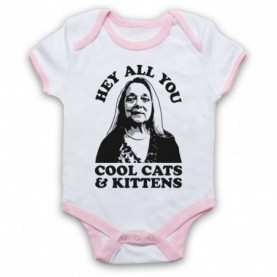 Tiger King Carole Baskin Hey All You Cool Cats & Kittens Baby Grow Bib Baby Grows & Bibs