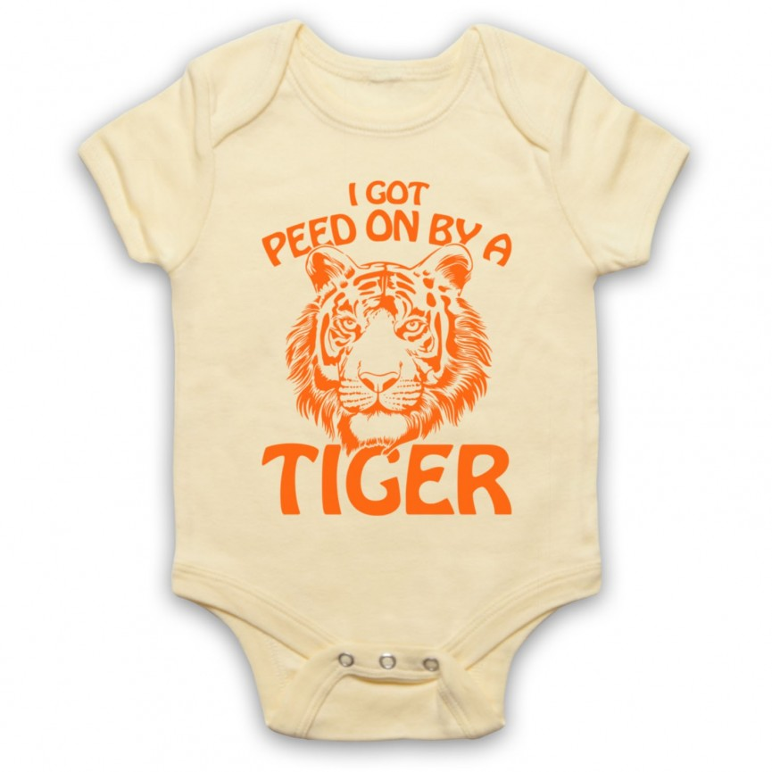 Tiger King I Got Peed On By A Tiger Baby Grow Bib Baby Grows & Bibs