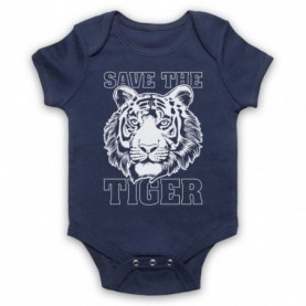 Save The Tiger Animal Rights Protest Slogan Baby Grow Bib Baby Grows & Bibs