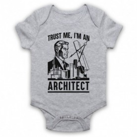 Trust Me I'm An Architect Funny Work Slogan Baby Grow Bib Baby Grows & Bibs