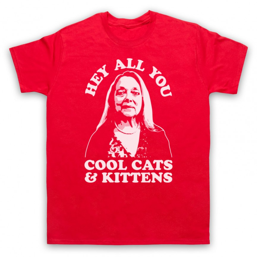 Tiger King Carole Baskin Hey All You Cool Cats & Kittens Mens Red T-Shirt