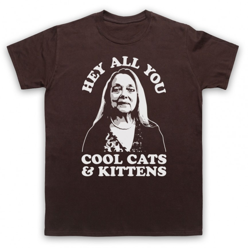 Tiger King Carole Baskin Hey All You Cool Cats & Kittens Mens Brown T-Shirt