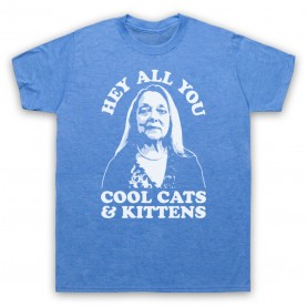 Tiger King Carole Baskin Hey All You Cool Cats & Kittens Mens Heather Blue T-Shirt
