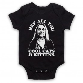 Tiger King Carole Baskin Hey All You Cool Cats & Kittens Black Baby Grow