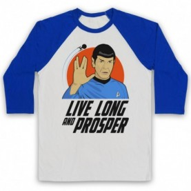 Star Trek Spock Live Long And Prosper Baseball Tee Baseball Tees