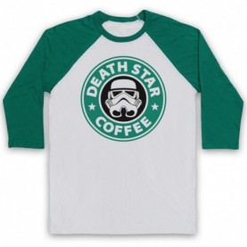 Star Wars Death Star Coffee Stormtrooper Parody Baseball Tee Baseball Tees