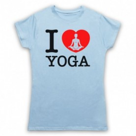I Love Yoga Stretching Fitness Workout T-Shirt T-Shirts