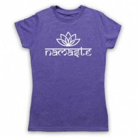 Namaste Yoga Slogan Greeting T-Shirt T-Shirts