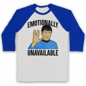 Star Trek Spock Emotionally Unavailable Baseball Tee Baseball Tees