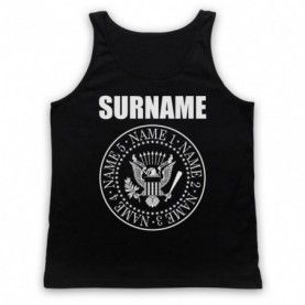 Ramones Logo Style Customise Your Family Names Tank Top Vest Tank Top Vests