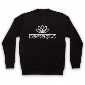 Namaste Yoga Slogan Greeting Hoodie Sweatshirt Hoodies & Sweatshirts