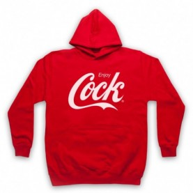 Enjoy Cock Cola Parody Slogan Gay Humour Hoodie Sweatshirt Hoodies & Sweatshirts