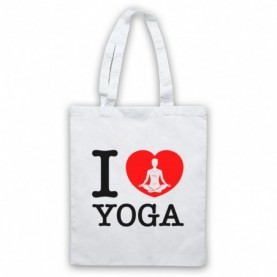 I Love Yoga Stretching Fitness Workout Tote Bag Tote Bags