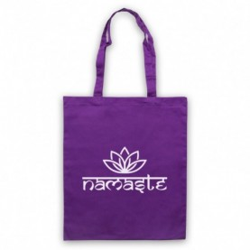Namaste Yoga Slogan Greeting Tote Bag Tote Bags
