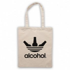 Alcohol Sports Brand Parody Logo Streetwear Style Tote Bag Tote Bags