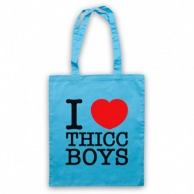 I Love Thicc Boys Funny Dating Slogan Tote Bag Tote Bags