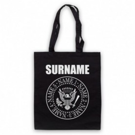 Ramones Logo Style Customise Your Family Names Tote Bag Tote Bags