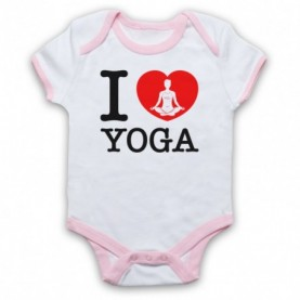 I Love Yoga Stretching Fitness Workout Baby Grow Bib Baby Grows & Bibs