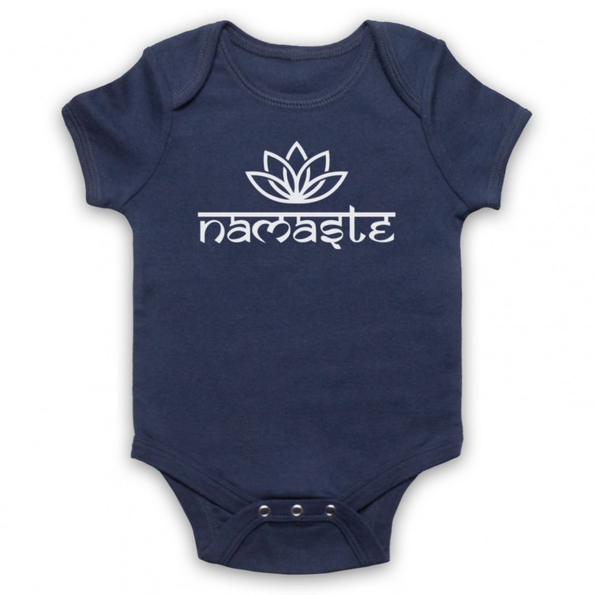 Namaste Yoga Slogan Greeting Baby Grow Bib Baby Grows & Bibs