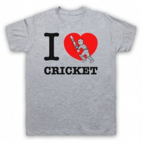 I Love Cricket Sports Slogan T-Shirt T-Shirts