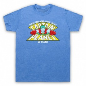 Captain Planet Earth Fire Wind Water Heart T-Shirt T-Shirts