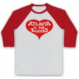 Atlanta Is For Lovers American State Slogan As Worn By Joe Cocker Baseball Tee Baseball Tees