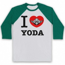 Star Wars I Love Yoda Baseball Tee Baseball Tees