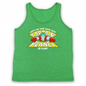 Captain Planet Earth Fire Wind Water Heart Tank Top Vest Tank Top Vests