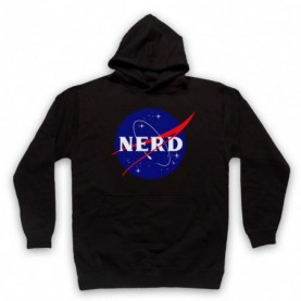 Nerd Nasa Space Agency Parody Logo Hoodie Sweatshirt Hoodies & Sweatshirts