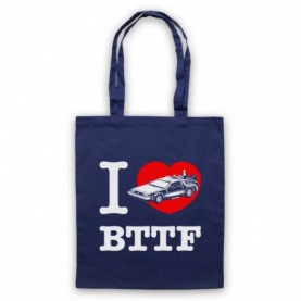 Back To The Future I Love BTTF Delorean Tote Bag Tote Bags
