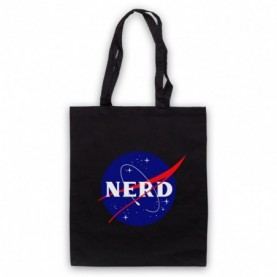 Nerd Nasa Space Agency Parody Logo Tote Bag Tote Bags