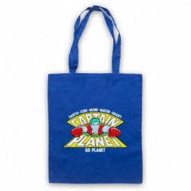 Captain Planet Earth Fire Wind Water Heart Tote Bag Tote Bags