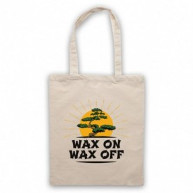 Karate Kid Wax On Wax Off Bonsai Tree Tote Bag Tote Bags