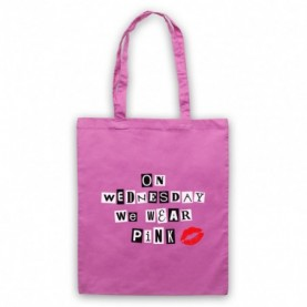 Mean Girls On Wednesday We Wear Pink Tote Bag Tote Bags