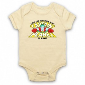 Captain Planet Earth Fire Wind Water Heart Baby Grow Bib Baby Grows & Bibs