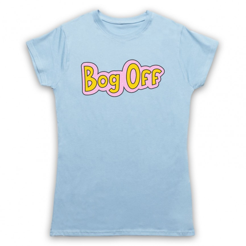 Tracy Beaker Bog Off Womens Light Blue T-Shirt