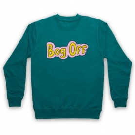Tracy Beaker Bog Off Adults Jade Green Sweatshirt