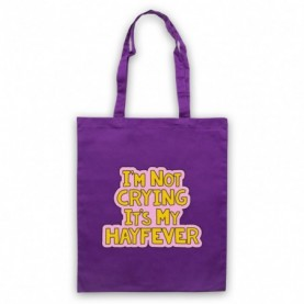 Tracy Beaker I'm Not Crying It's My Hayfever Purple Tote Bag