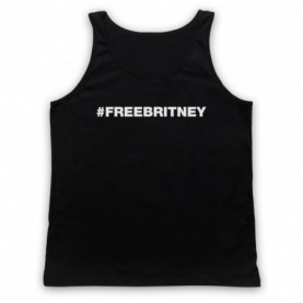 Britney Spears Hashtag FreeBritney Free Britney Adults Black Tank Top