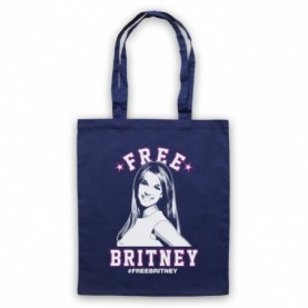 Britney Spears Free Britney Navy Blue Tote Bag