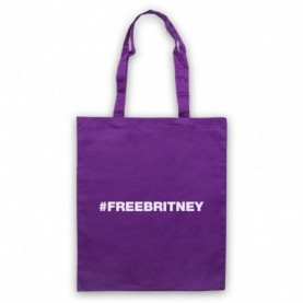 Britney Spears Hashtag FreeBritney Free Britney Purple Tote Bag