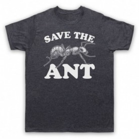 Save The Ant Animal Rights Protest Slogan Mens Heather Slate T-Shirt