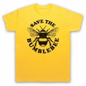 Save The Bumblebee Animal Rights Protest Slogan Mens Yellow T-Shirt