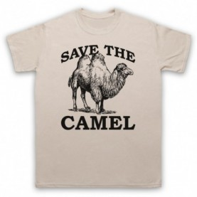 Save The Camel Animal Rights Protest Slogan Mens Sand T-Shirt