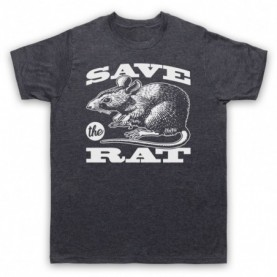 Save The Rat Animal Rights Protest Slogan Mens Heather Slate T-Shirt
