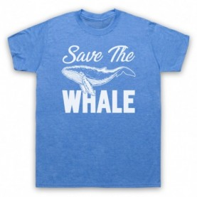 Save The Whale Animal Rights Protest Slogan Mens Heather Blue T-Shirt