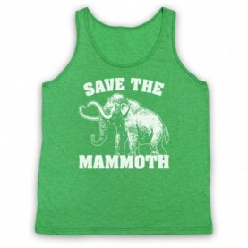 Save The Mammoth Dinosaur Extinct Parody Animal Rights Protest Slogan Adults Heather Green Tank Top