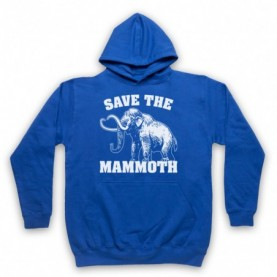 Save The Mammoth Dinosaur Extinct Parody Animal Rights Protest Slogan Adults Royal Blue Hoodie