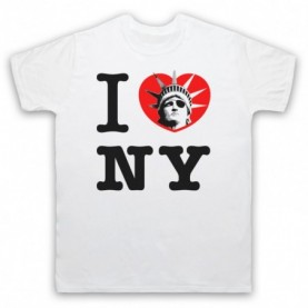 Escape From New York I Love NY Statue Of Liberty Mens White T-Shirt