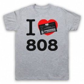 I Love 808 Drum Machine Detroit Techno House Mens Heather Grey T-Shirt
